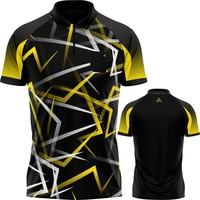 Arraz Arraz Flare Dartshirt Black & Yellow