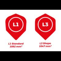 Dartshopper Customized Dart Flights - L-Style L1 Standard Text (1 Set)