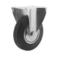 Bokwiel rubber 125 1SA plaat