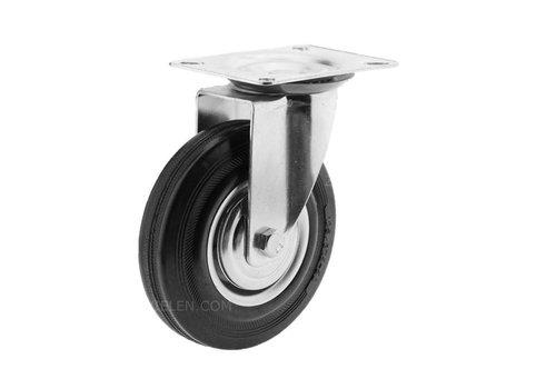Zwenkwiel rubber 125 1SA plaat