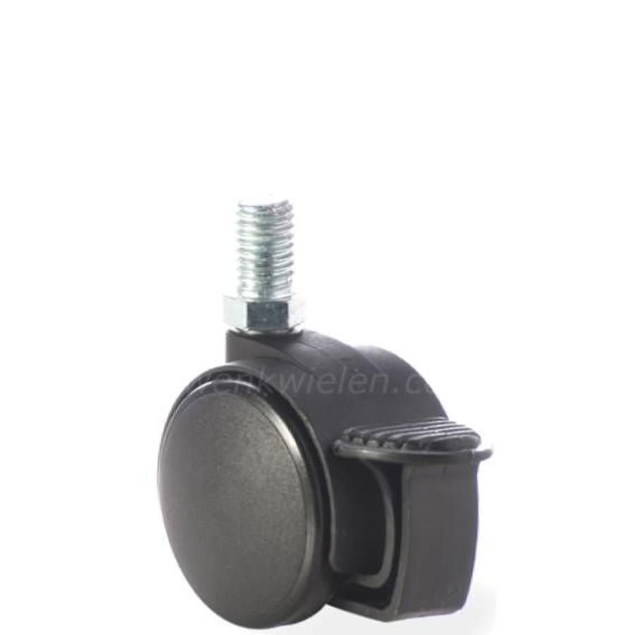 PP wiel 40mm bout M10x15 met rem