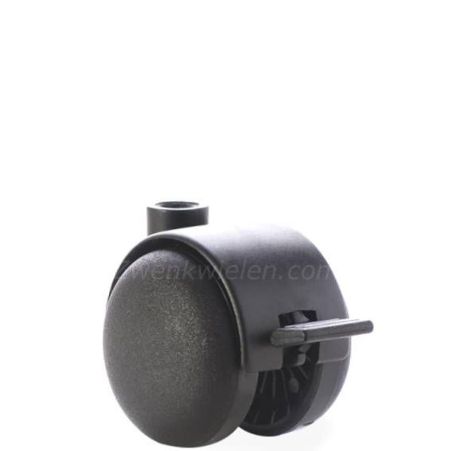 PP wiel 50mm met rem