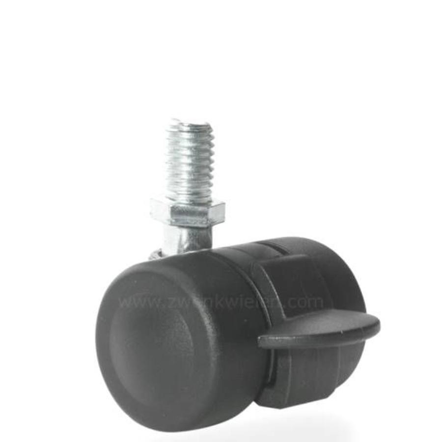 PALOW wiel 35mm bout M10x25 met rem