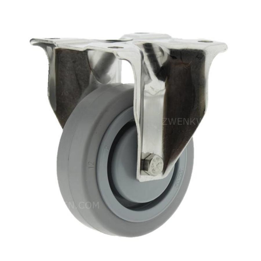 Bokwiel RVS 100 elastisch rubber KO plaat