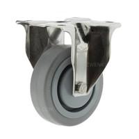 Bokwiel RVS 160 elastisch rubber KO plaat