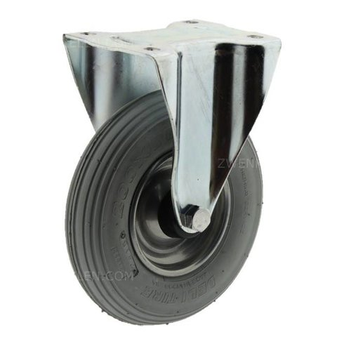 Bokwiel luchtband grijs 200mm plaatbevestiging