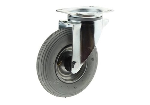 Zwenkwiel luchtband 200 grijs REMI plaat