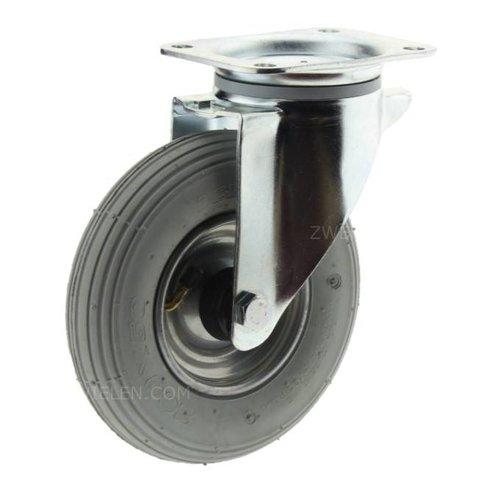 Zwenkwiel luchtband 200mm plaatbevestiging