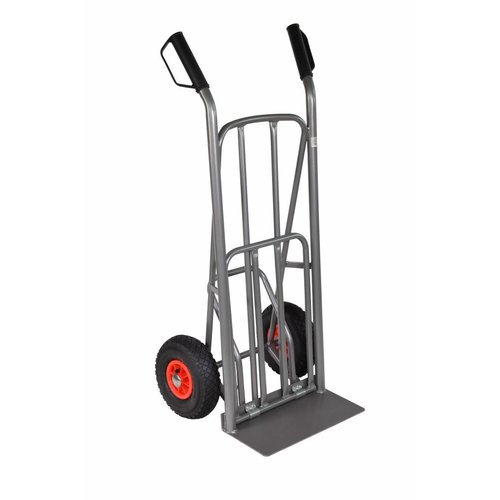 Steekwagen 250kg uitklap plateau voetpedaal
