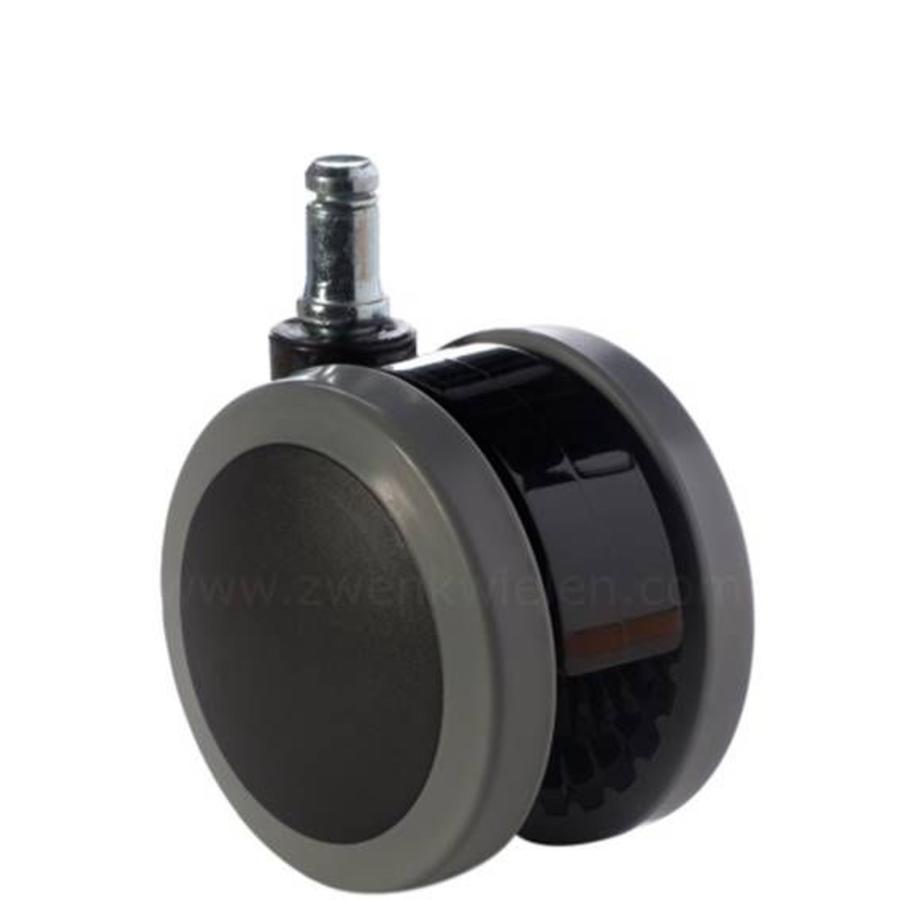 PAPU black wiel 75mm stift 10mm