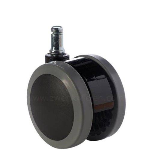 PAPU black wiel 75mm stift 11x30mm