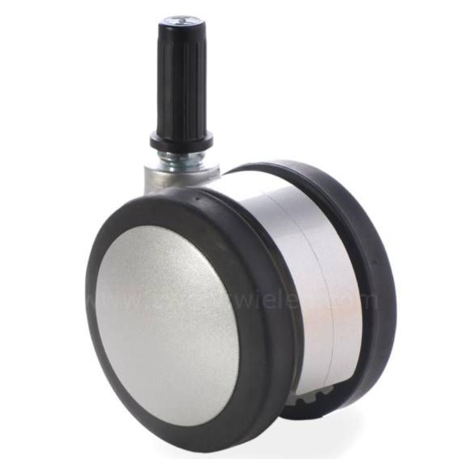 PAPU silver wiel 75mm plug 20mm