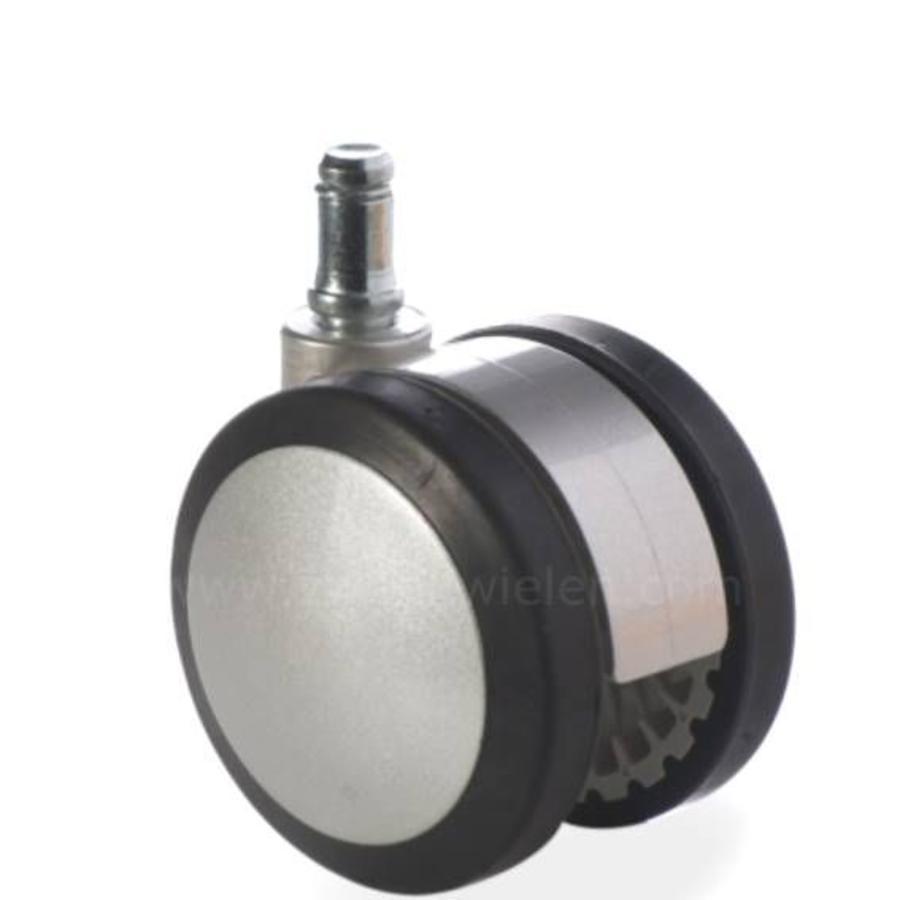 PAPU silver wiel 75mm stift 10mm