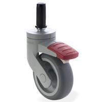 SYTP wiel 75mm plug 17mm met rem