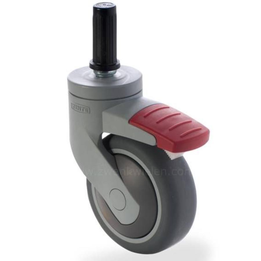 SYTP afdekkap wiel 75mm plug 22mm met rem