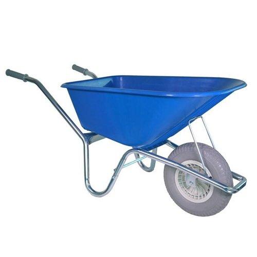 Kruiwagen 100 liter blauw anti-lek wiel