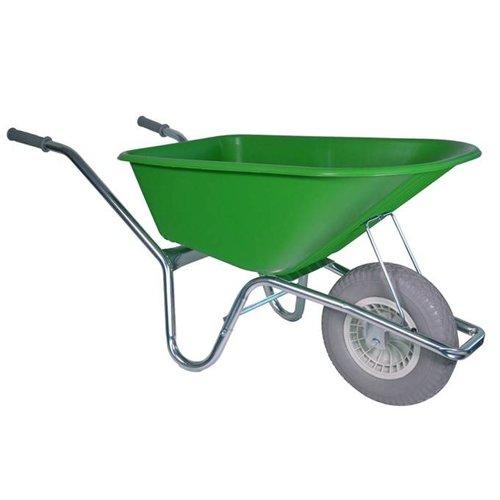 Kruiwagen 100 liter lime anti-lek wiel