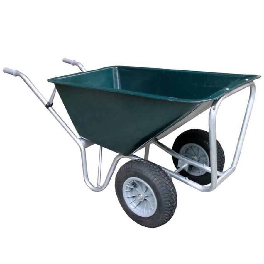 Volumekruiwagen 160 liter groen 2 wiel