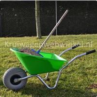Kinderkruiwagen 35 liter lime anti-lek