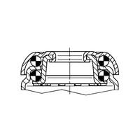 Zwenkwiel 125 verzinkt 2TPKO boutgat met rem
