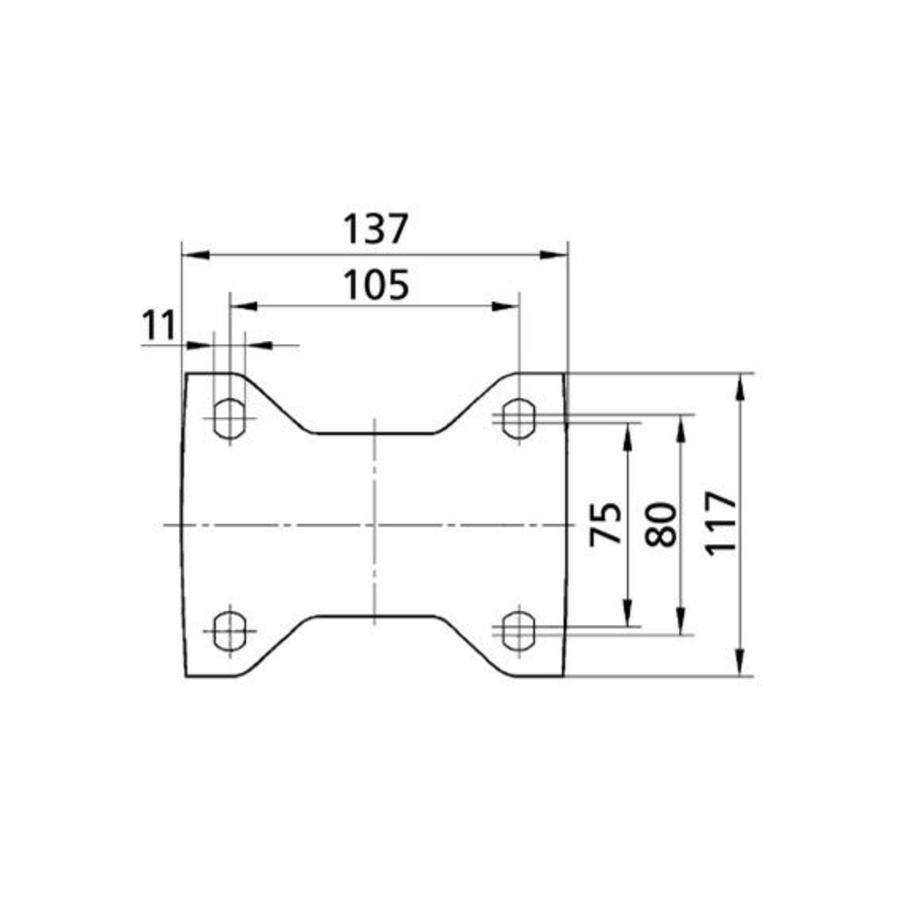 Bokwiel nylon 160 5SO plaat