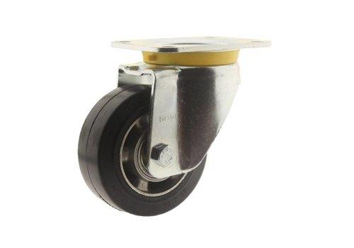 Zwenkwiel rubber 125 5SO plaat