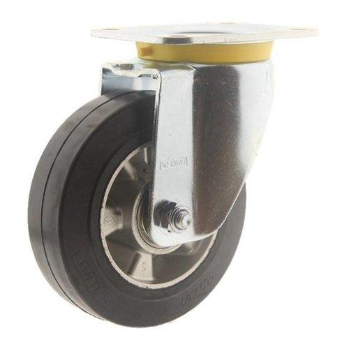 Zwenkwiel rubber 160 5SO plaat
