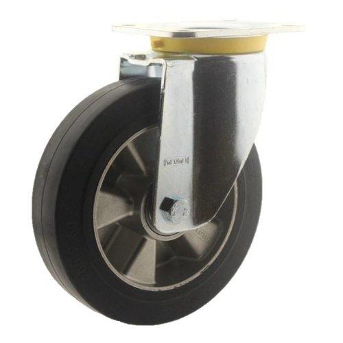 Zwenkwiel rubber 200 5SO plaat