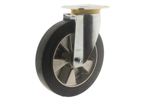 Zwenkwiel rubber 250 5SO plaat