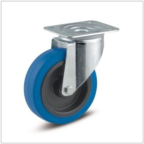 Elastisch rubber blauw KO plaat