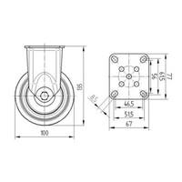 Bokwiel RVS 100 7TP plaat