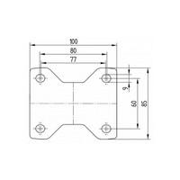Bokwiel RVS 100 Siliconen rubber hittebestendig plaatbevestiging