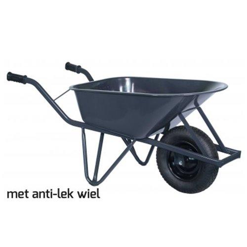 Kruiwagen Pro 85 liter metaal anti-lek wiel