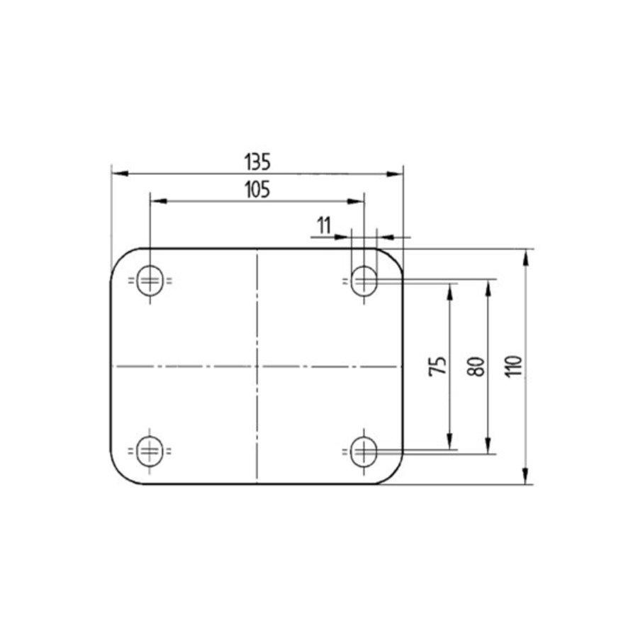 Bokwiel nylon Xtreme 100 6NO plaat