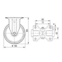 Bokwiel polyurethaan 100 5SO plaat
