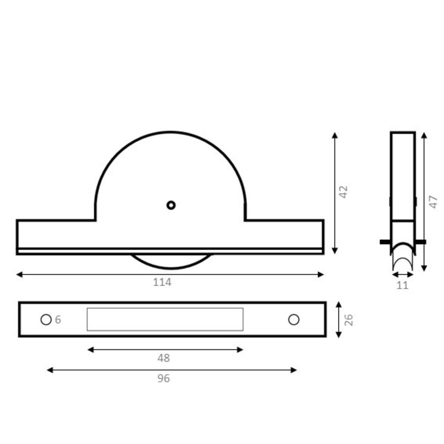 Groefwiel polyamide 40mm RS