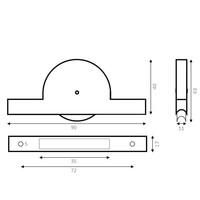 Groefwiel polyamide 40mm