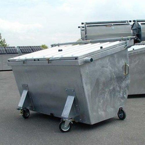 Metalen afvalcontainer wielen