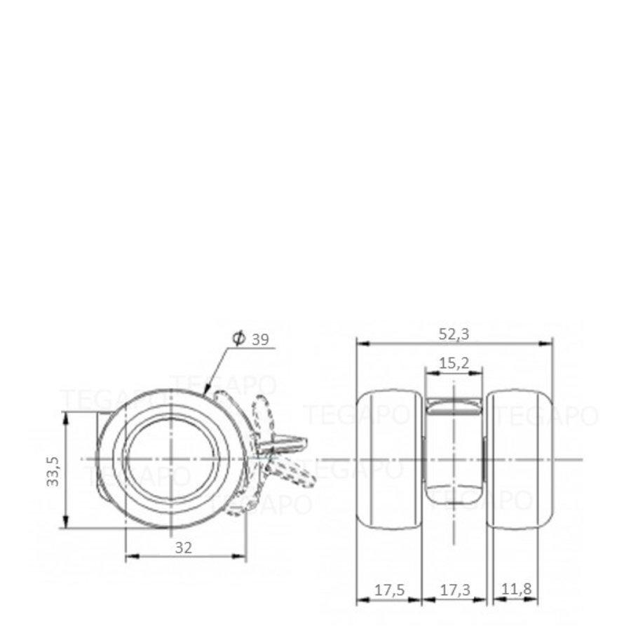 PATPLOW limited black softwiel 39mm met rem