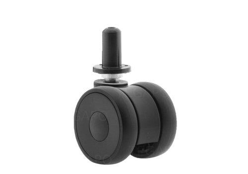 PAPU LOW wiel 50mm plug rond kunststof 13mm