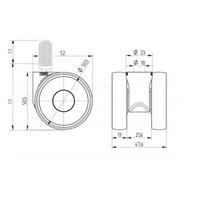 PAPU LOW wiel 50mm plug rond 14mm