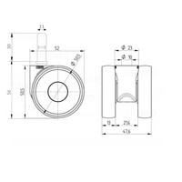 PAPU LOW wiel 50mmstift 11mm (30)