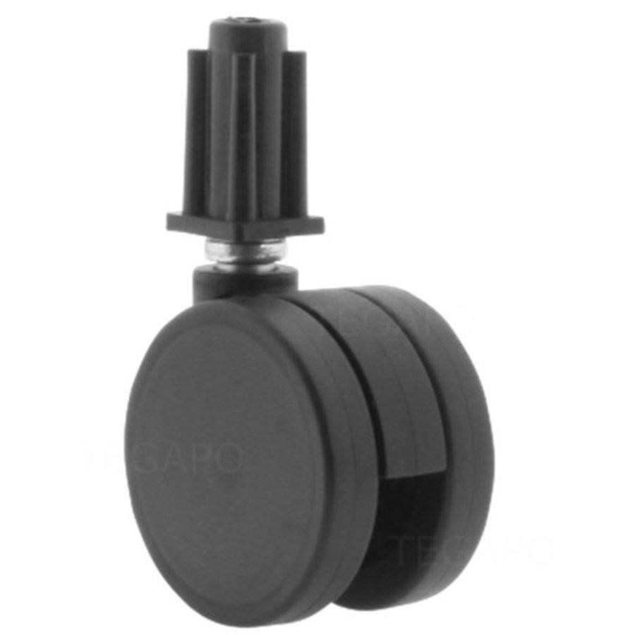 PPPU wiel 50mm plug vierkant 18mm