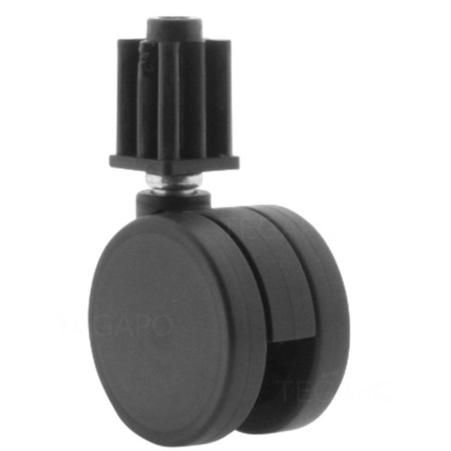 PPPU wiel 50mm plug vierkant 21mm