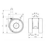 PAPU LOW wiel 50mm stift 10mm
