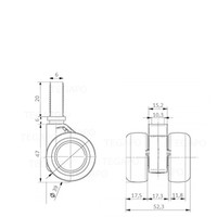 PATPHIGH wiel 39mm bout M6x20