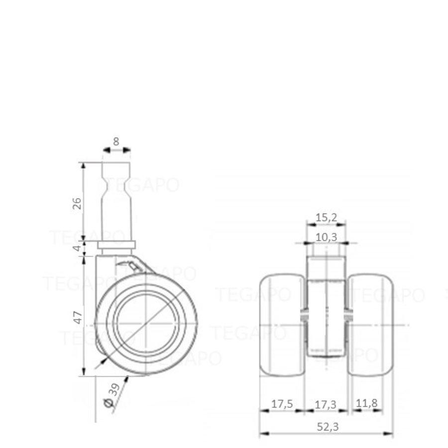 PATPHIGH wiel 39mm stift 8mm