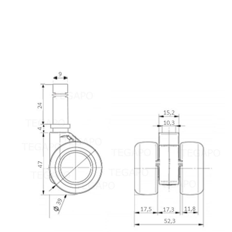PATPHIGH wiel 39mm stift 9mm