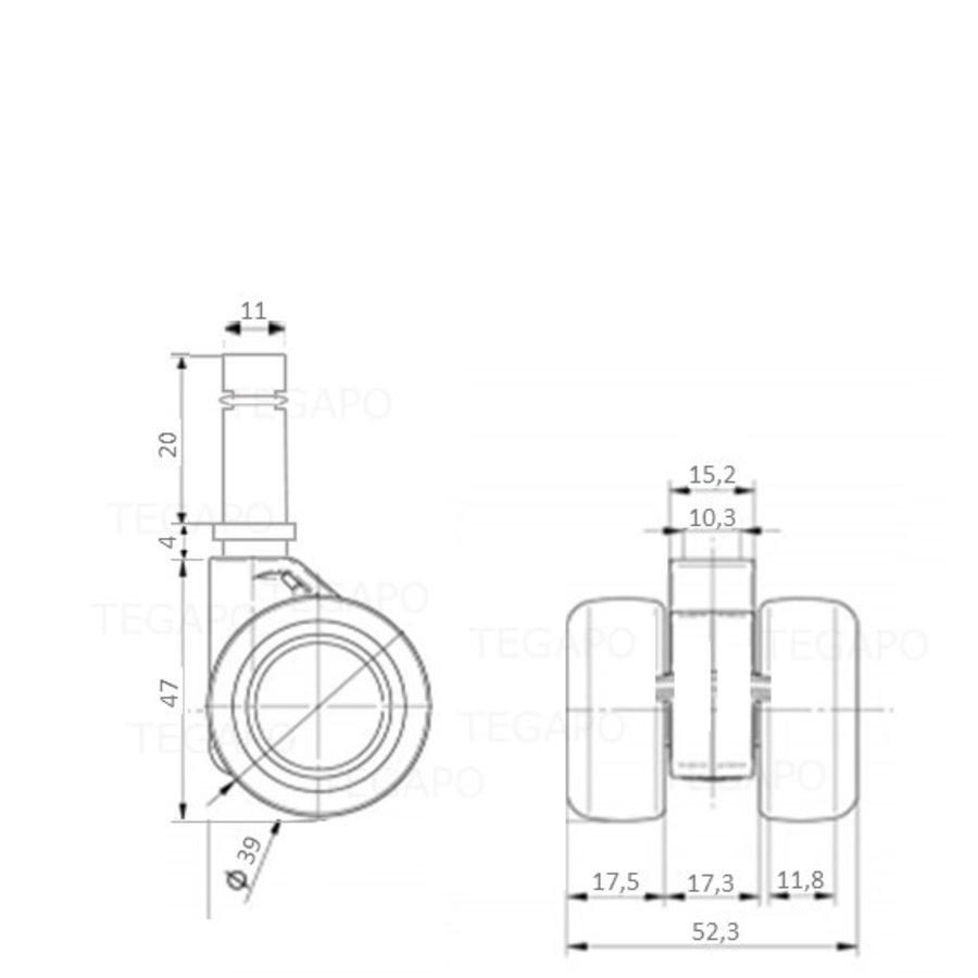 PATPHIGH wiel 39mm stift 11mm