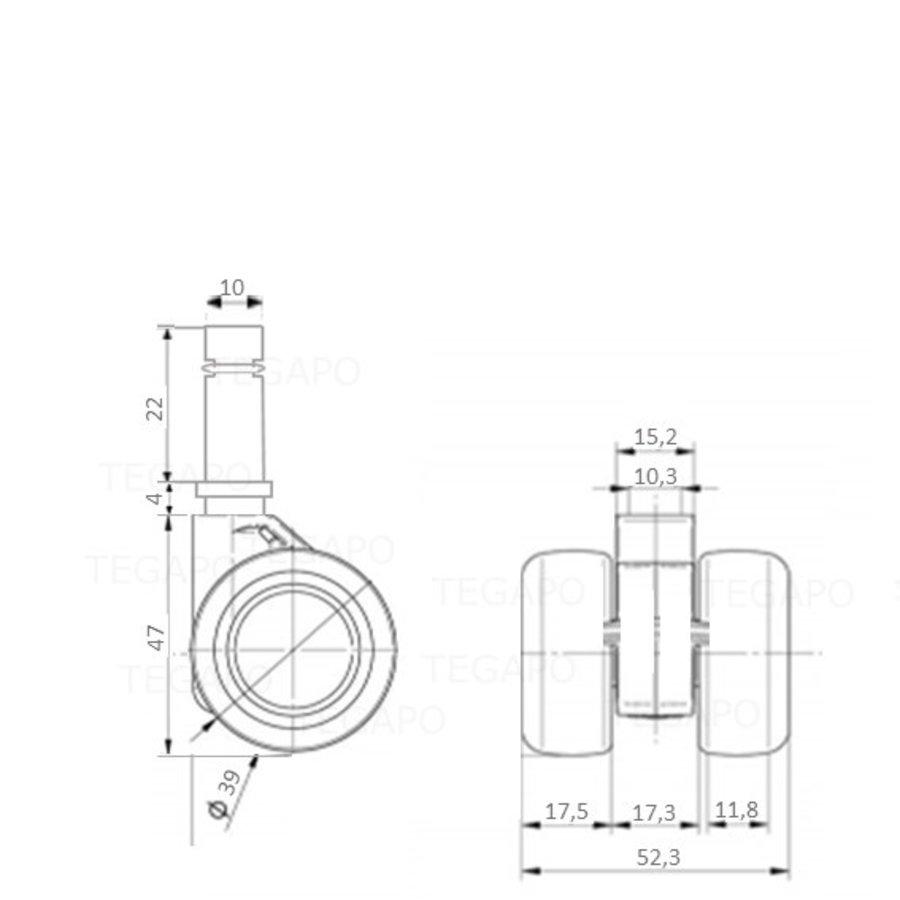 PATPHIGH wiel 39mm stift 10mm